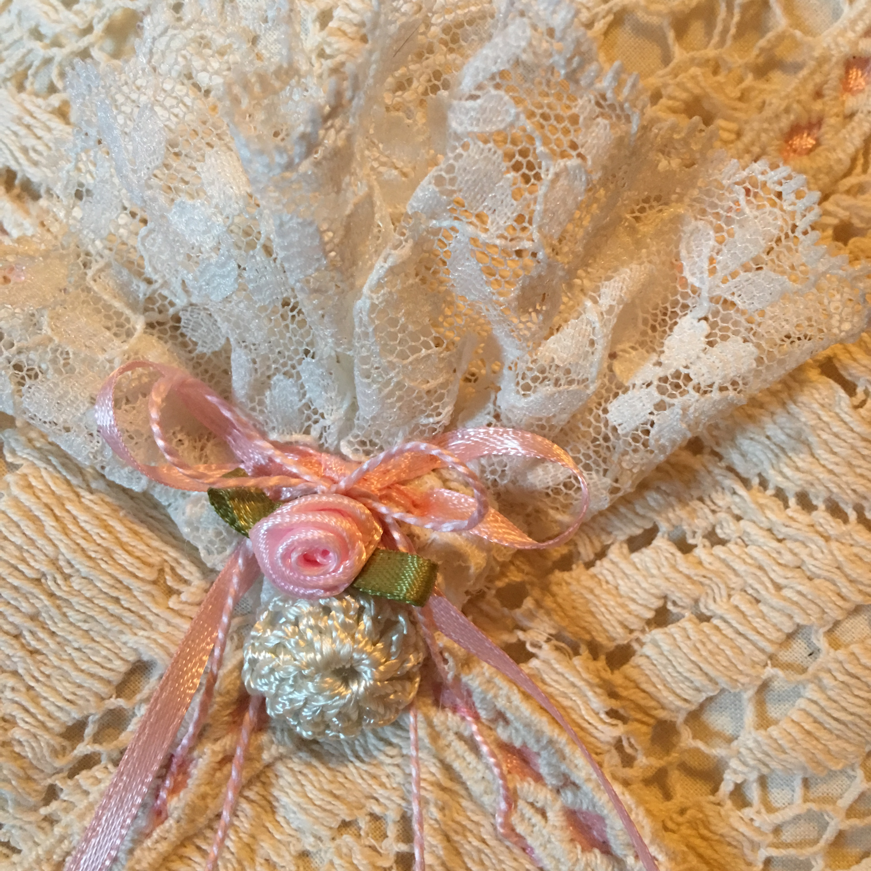 hanging sachet for wall or door knob Lilac and Lilies 8 COUNTRY GIRL Sachet Wall Hanging